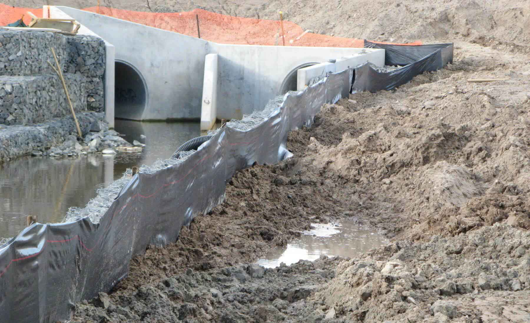 Silt Fence in use